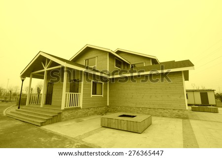 wooden house in a garden north china - North China Garden