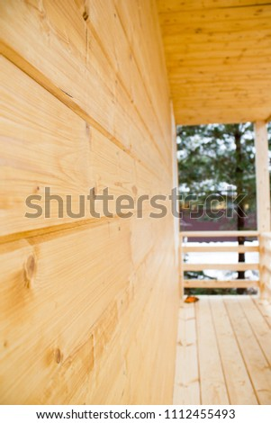wooden house wall #1112455493