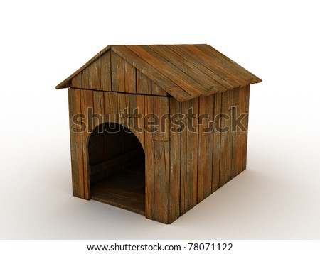 Wooden hut for a dog 1