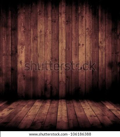 wooden interior room #106186388