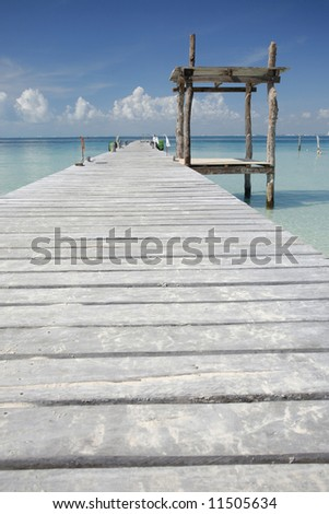 Wooden jetty in tropical sea
