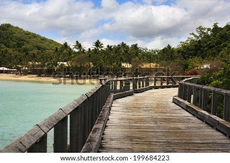 Wooden Jetty which goes to Long Island