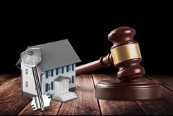 Wooden judge gavel, justice concept