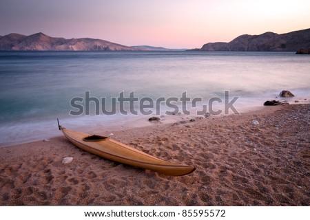 Wooden kayak
