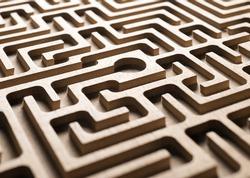 wooden labyrinth