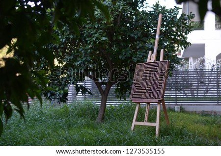 Wooden labyrinth maze