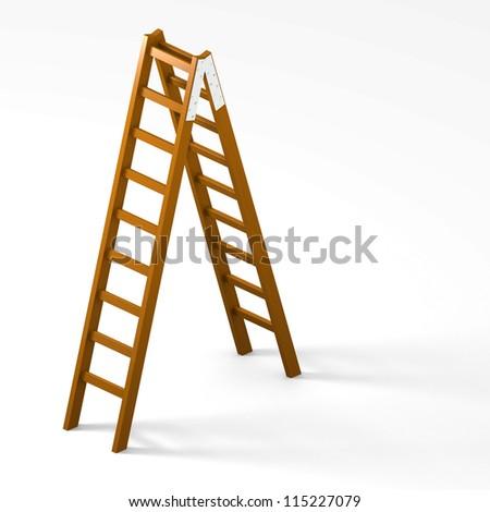 Wooden Ladder #115227079