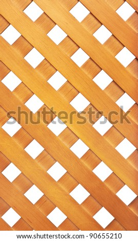 Wooden lattice isolated on white background - stock photo