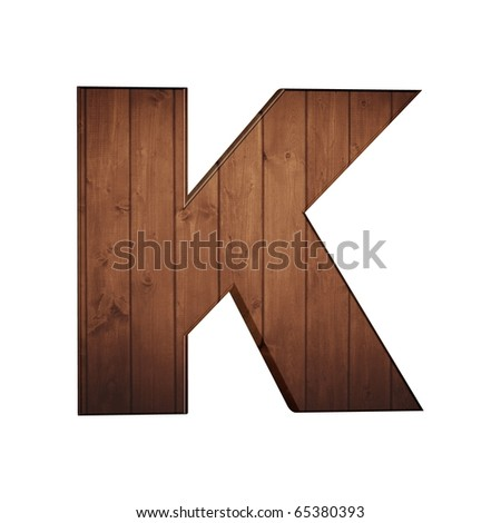 wooden letters
