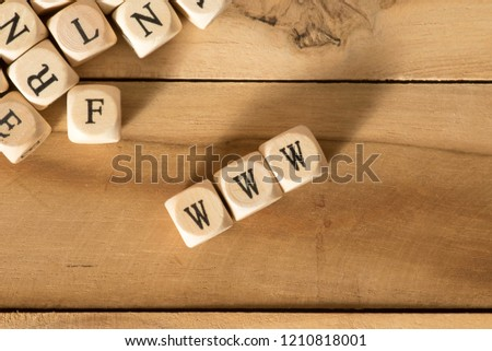 Wooden letters and World Wide Web WWW #1210818001