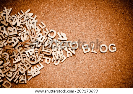 wooden letters forming word BLOG