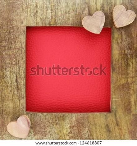 Wooden love frame