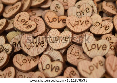 Wooden Love Hearts #1311978533
