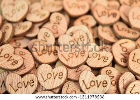 Wooden Love Hearts #1311978536