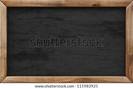 wooden menu board.