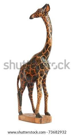 Wooden Model Giraffe