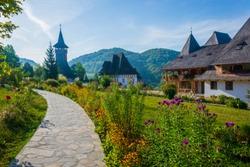 Wooden Monastery of Barsana, Romania, Europe.