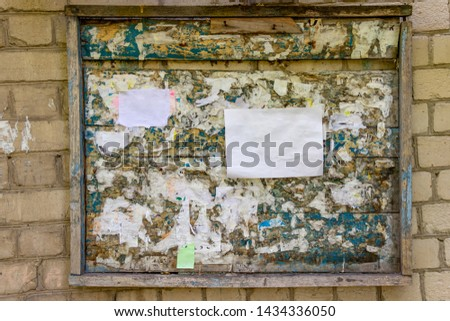 Wooden Notice Board On White Background Images And Stock
