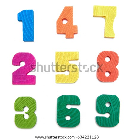 Wooden numbers #634221128