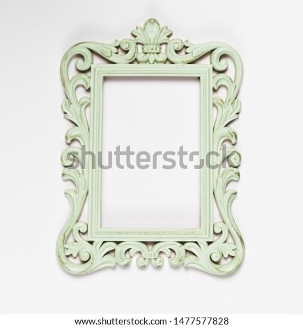 Wooden old mint ornamental frame #1477577828