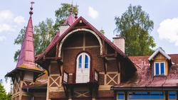 wooden old roof on wooden church
