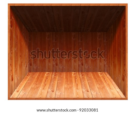 wooden open box