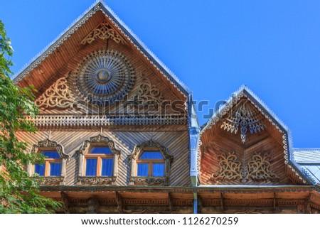 Wooden ornaments Russia #1126270259