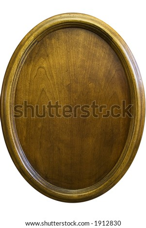 Wooden oval vernier - isolated