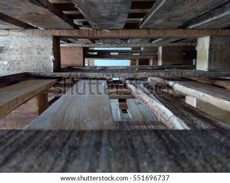 Warehouse Old Destroyed Wooden Pallets Images And Stock Photos