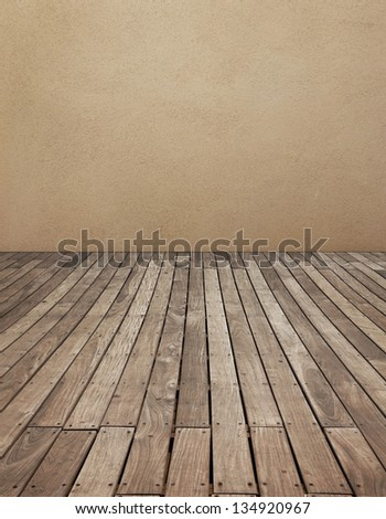 Wooden panel and wall background