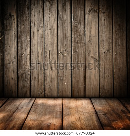 Wooden panel wall interior background