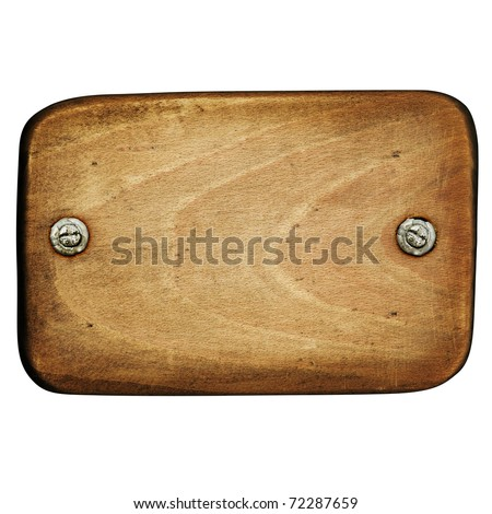 Wooden panel with screws