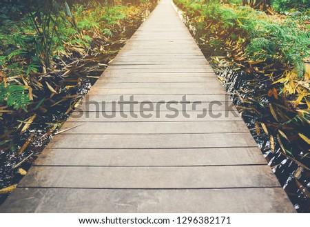 Wooden pathways #1296382171
