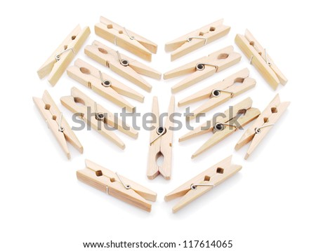 wooden peg on a white background