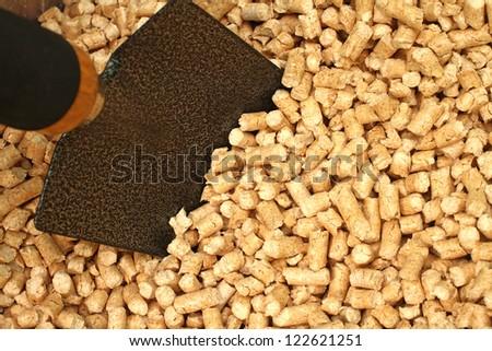 wooden pellets