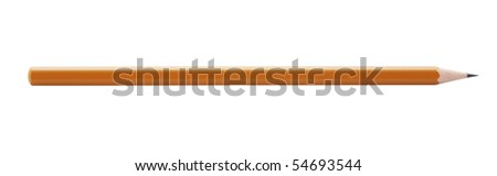 wooden pencil,isolated on white with clipping path.