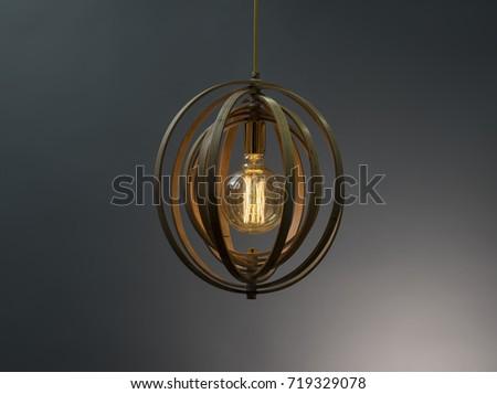 Wooden Pendant light lamp illuminated, Elegant Chandelier illuminated #719329078
