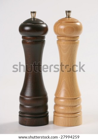 wooden pepper-mills