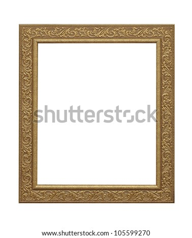 wooden photo frame Isolated