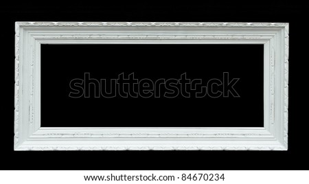 Wooden photo frame - isolated on black background