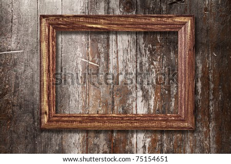 Old Wooden Picture Frames Wooden Photo Frame on Old