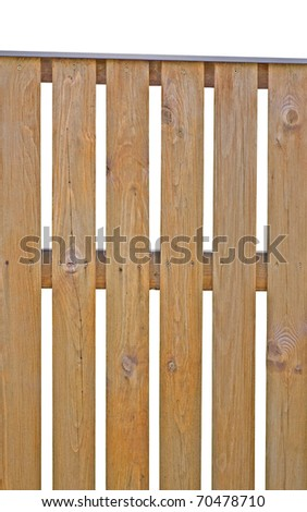 Wooden Picket Fence, Brown Natural Isolated Vertical Closeup