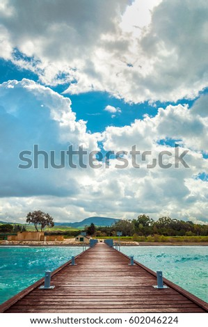 Wooden pier #602046224