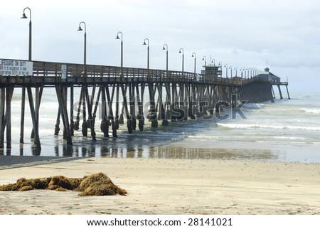 Wooden pier at Imperial Beach, California, USA