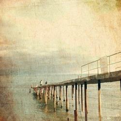 wooden pier - retro style picture