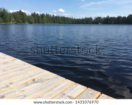 Wooden piers on the lake. #1431076970