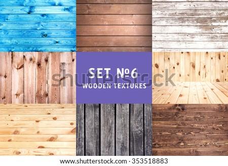 Wooden planks background. set number 6 #353518883