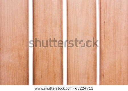 wooden planks isolated on white