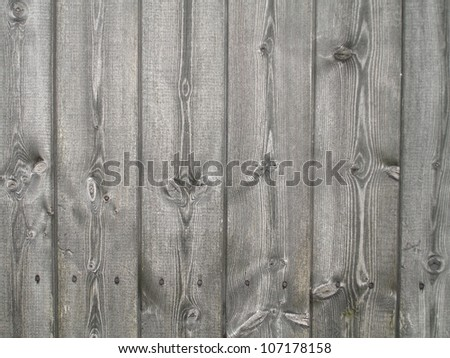 Wooden planks on a shed