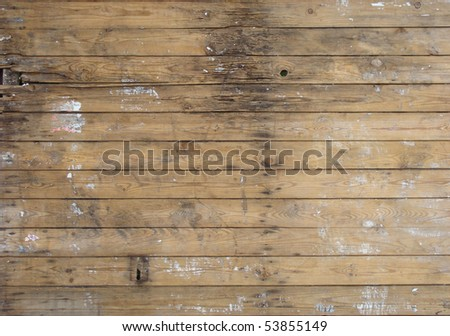 wooden planks with some leftovers from election posters